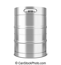 Beer keg. 3d illustration isolated on white background