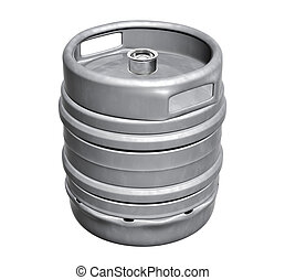 Beer keg - isolated over white background