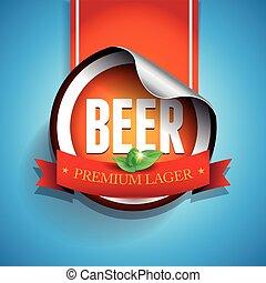 Beer label or sticker - lager vector