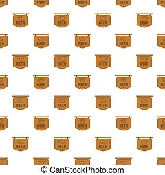 Beer label pattern seamless