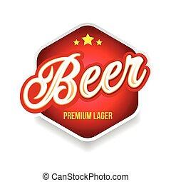 Beer label sign lettering vintage
