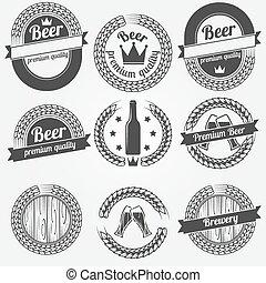 Beer labels or badges
