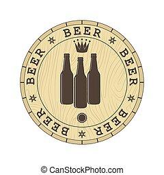 Beer lid cover, simple flat design