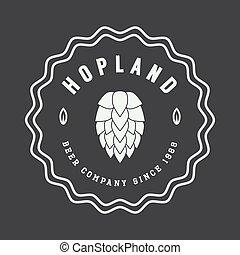 Beer logo in vintage style.
