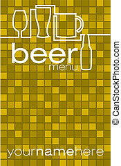 Beer Menu - Beer list/menu in vector format.