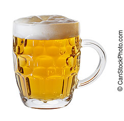 beer mug - a mug of lager beer