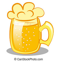 beer mug with a beer. clip art