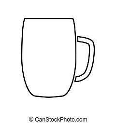 Beer mug black color icon .