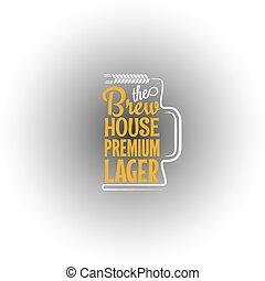 beer mug design background