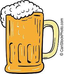 Beer Mug Drawing - Drawing sketch style illustration of a...