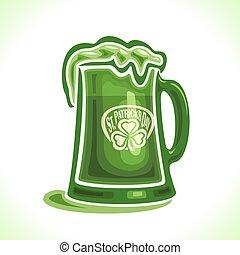 Beer mug for St. Patrick's Day