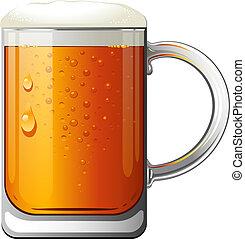 Beer Mug over white. EPS 10, AI, JPEG