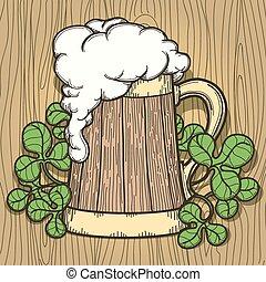 Beer Mug in Cartoon Style
