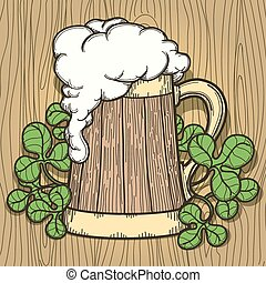 Beer Mug in Cartoon Style