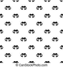 Beer mug pattern seamless