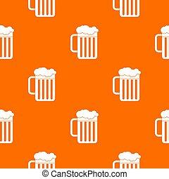 Beer mug pattern seamless