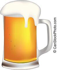 Beer mug with foam