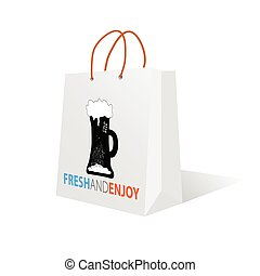 beer on the bag color vector