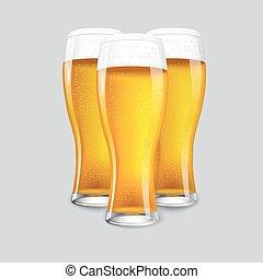 beer., osamocený, realistický, 3, znamenitý, brýle