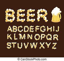 beer., pescaggio, font