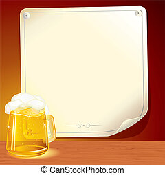 Beer Poster - Illustrated Background for your text or design