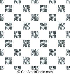 Beer pub pattern seamless