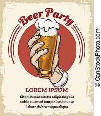 Beer retro poster