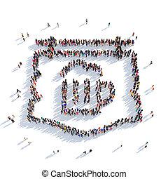 beer sign people 3D rendering