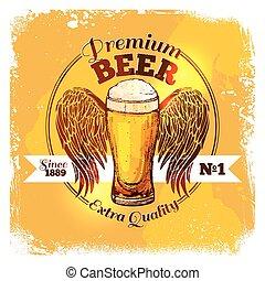 Beer Sketch Label