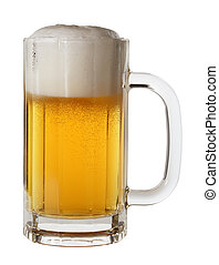 Beer - Isolated mug of lager beer