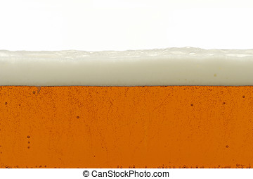 beer - side view of large glass container of beer,shows...