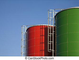 Beer storage - Two beer storages tanks in Amsterdam,Holland...