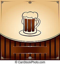 Beer tankard. vector graphic Illustration with place for text