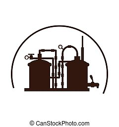 beer tanks icon image design, vector illustration