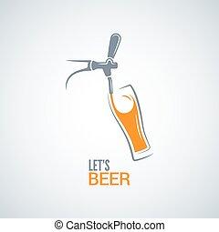 beer tap glass design vector background  8 eps