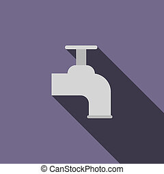 Beer tap icon, flat style