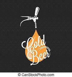 Beer Tap Label Design Background 10 eps