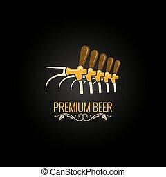 beer tap vintage ornate design background 10 eps