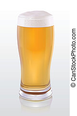 Beer - Glass of light beer