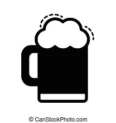 Beer vector icon black color