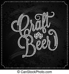 beer vintage chalk lettering background