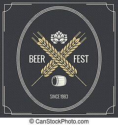 beer vintage label design background