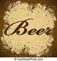 beer Vintage Poster Vector