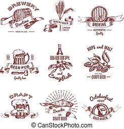 Beer Vintage Style Emblems
