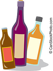 Beer Wine And Liquor - Three common types of alcoholic...