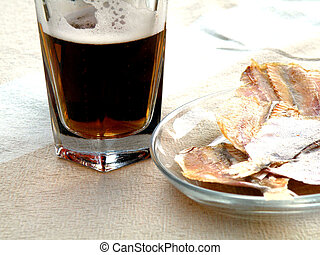 beer with fish lesch Yellow River fat delicious