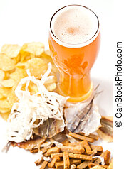 beer with snack