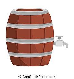 beer wooden barrel icon