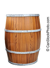 Beers Barrel-Shaped isolated with clipping path.