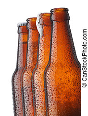 four bottles of beer in a row